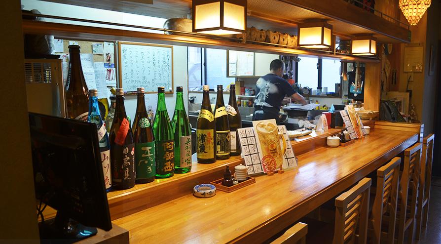 地酒と新鮮な魚介料理を楽しめる居酒屋らんてい